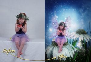 magical garden portraits single edits flower fairy