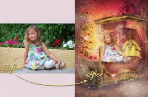 magical garden portraits single edits fairy