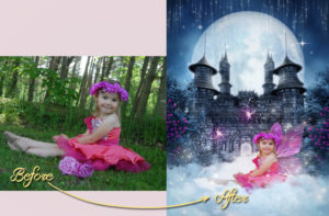 magical garden portraits single edits fairy princess