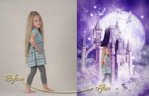 magical garden portraits single edits princess